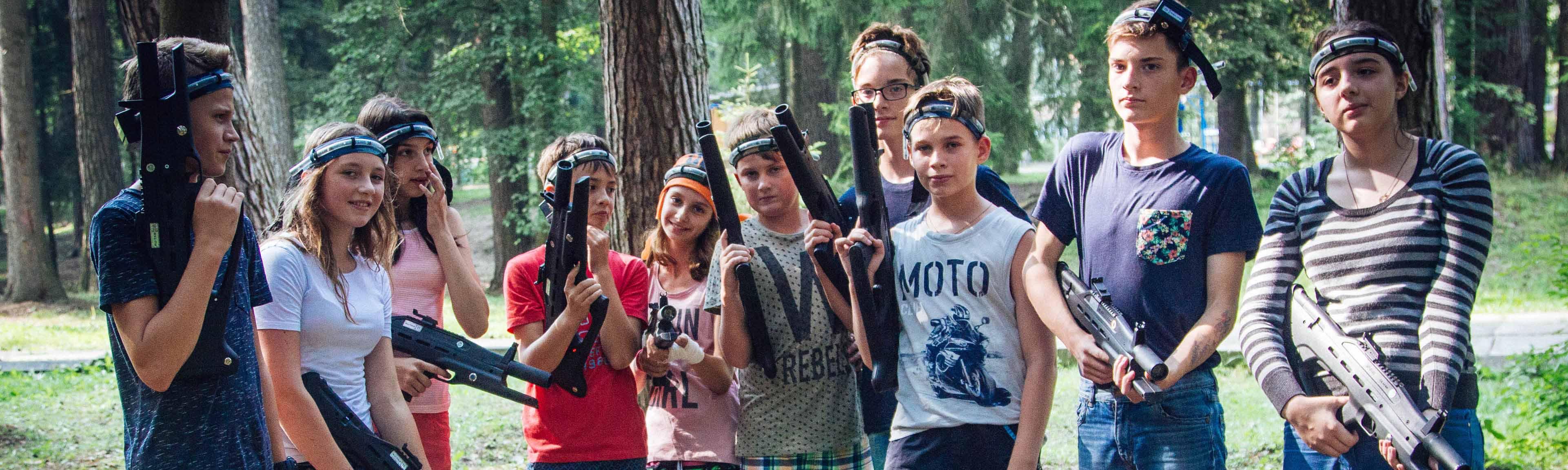 Вуаля лагерь лазертаг